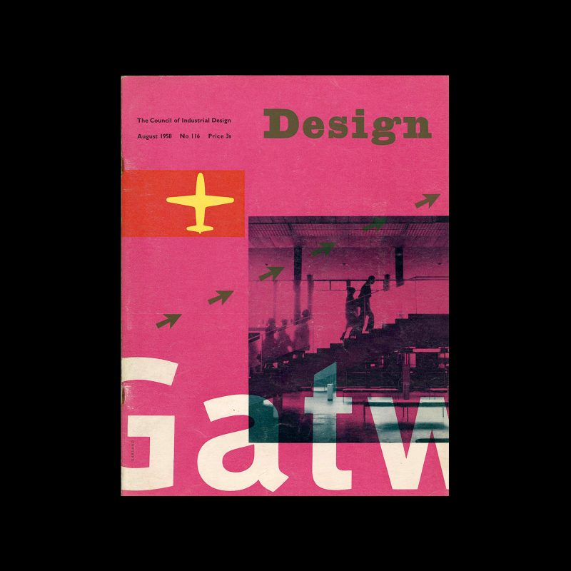 Design, Council of Industrial Design, 116, August 1958. Cover design by Ken Garland