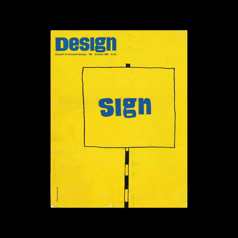 Design, Council of Industrial Design, 166, October 1962. Cover design by Fletcher/Forbes/Gill.
