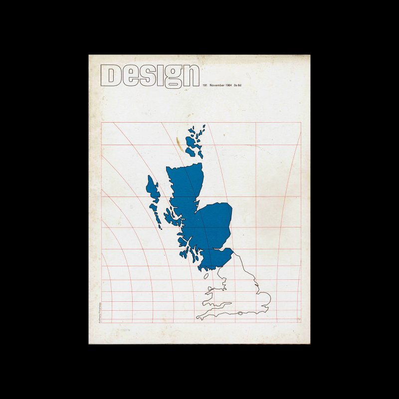 Design, Council of Industrial Design, 191, November 1965. Cover design by Anthony Froshaug.