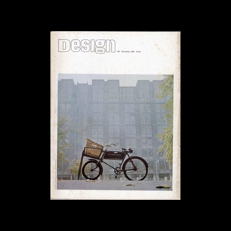 Design, Council of Industrial Design, 192, December 1965. Cover by Derek Birdsall and Anthony Froshaug