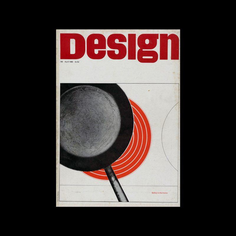 Design, Council of Industrial Design, 196, April 1965. Cover design by Dennis Bailey
