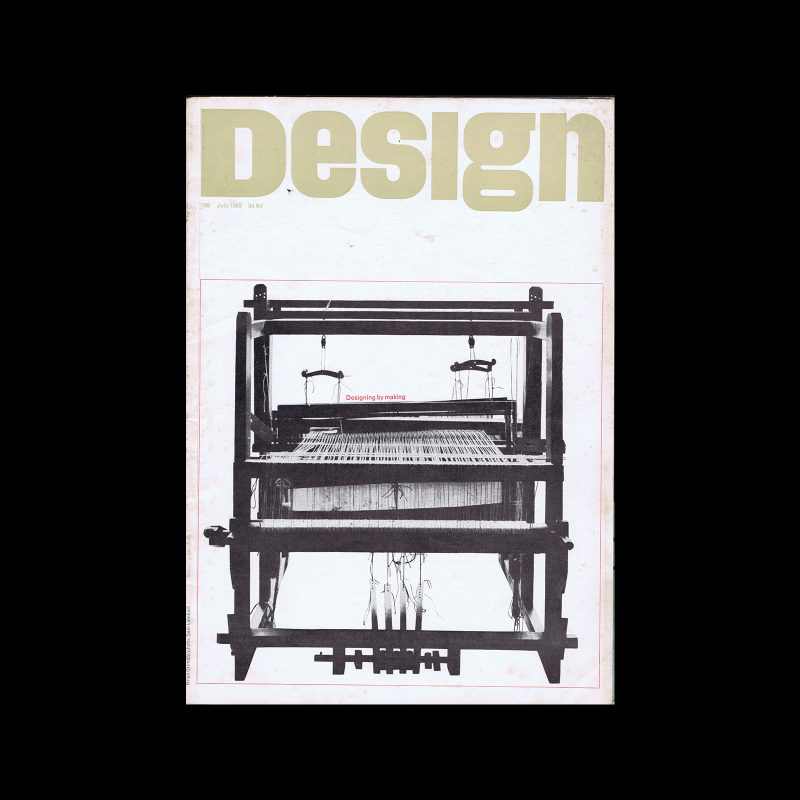 Design, Council of Industrial Design, 199, July 1965. Cover design by Brian Grimbly