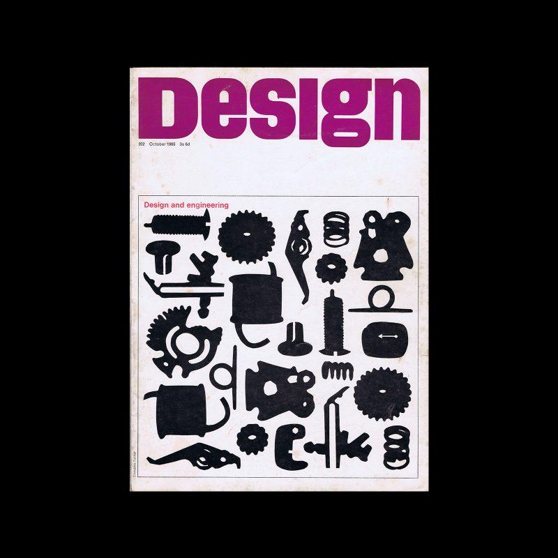 Design, Council of Industrial Design, 202, October 1965. Cover design by Christine Turner