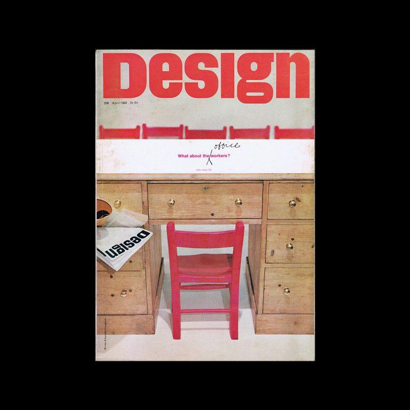 Design, Council of Industrial Design, 208, April 1966. Cover design by Binder/Edwards/Vaugham