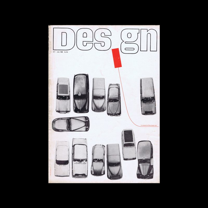 Design, Council of Industrial Design, 211, July 1966. Cover design by George Daulby