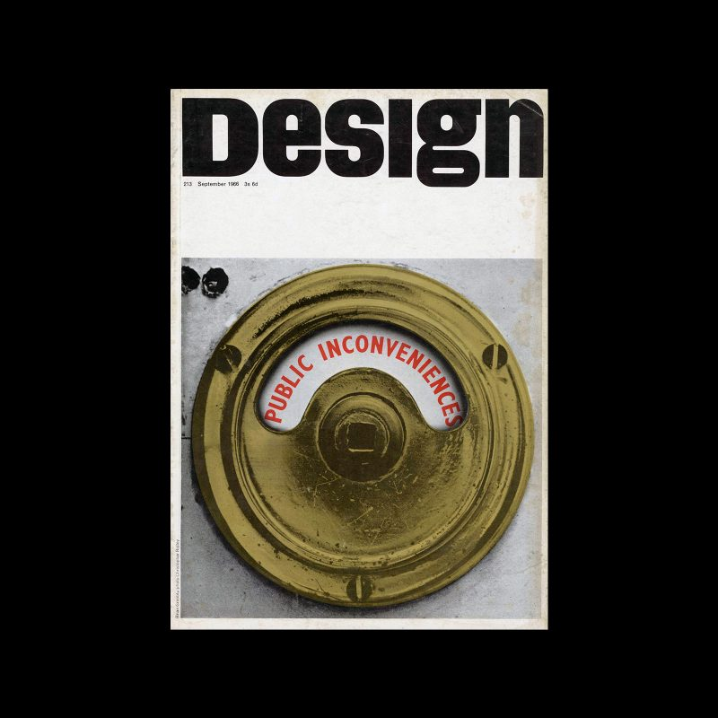 Design, Council of Industrial Design, 213, Sepetember 1966. Cover design by Brian Grimbly