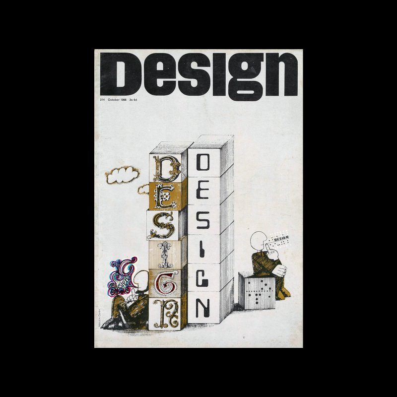 Design, Council of Industrial Design, 214, October 1966. Cover design by Malcolm Carder