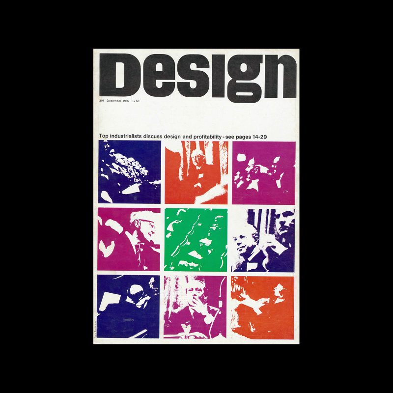 Design, Council of Industrial Design, 216, December 1966. Cover design by Tony Anderson
