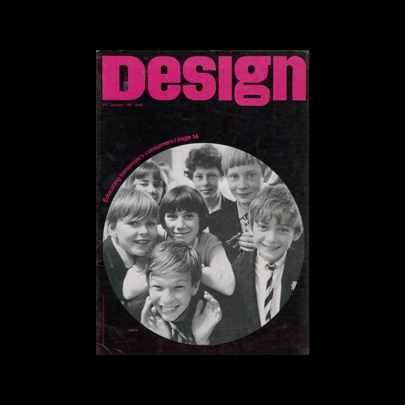 Design, Council of Industrial Design, 217, January 1967. Cover design by Caroline Rawlence