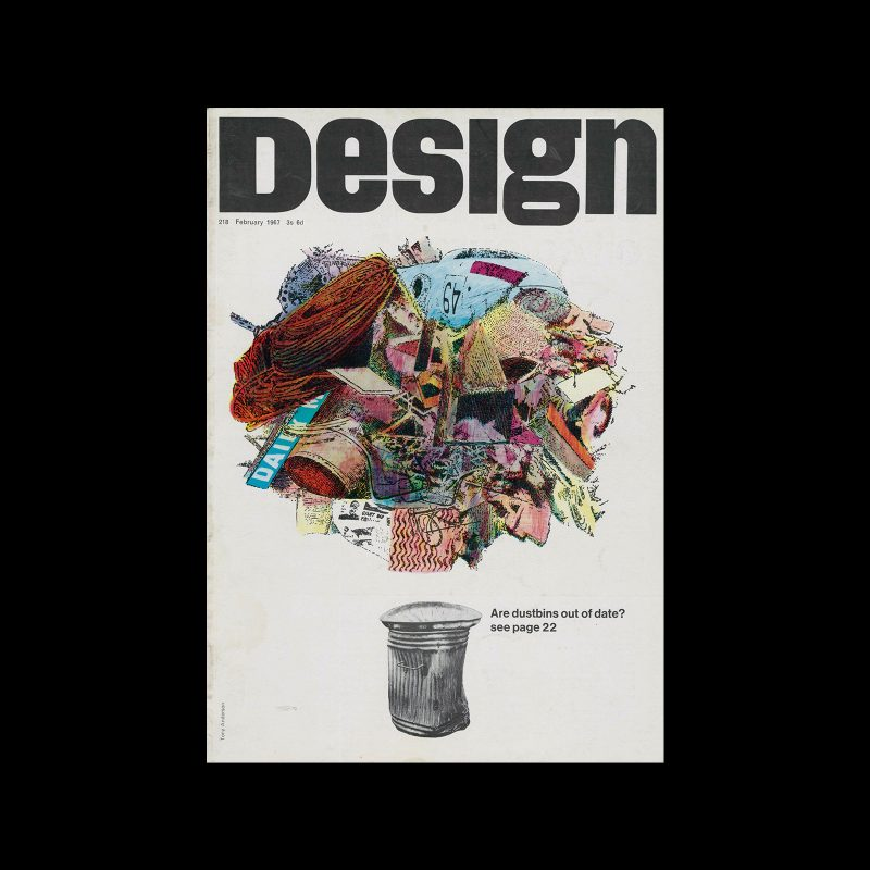 Design, Council of Industrial Design, 218, February 1967. Cover design by Tony Anderson