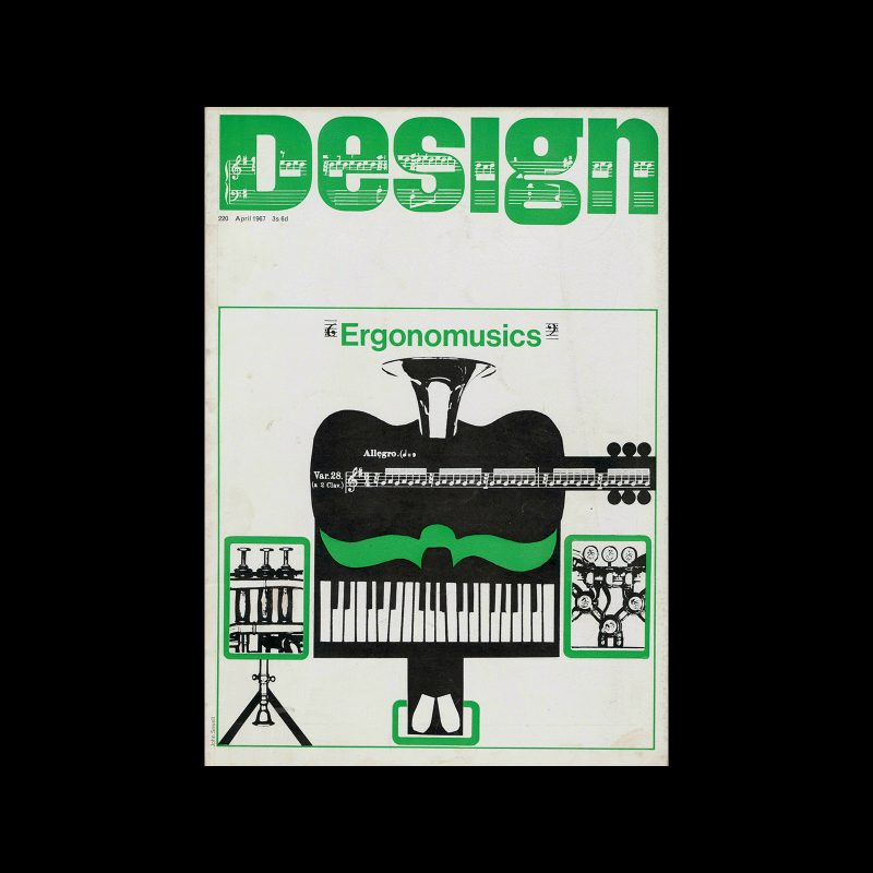 Design, Council of Industrial Design, 220, April 1967, Cover design by John Sewell
