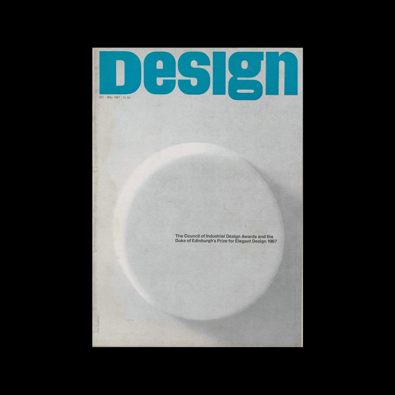 Design, Council of Industrial Design, 221, May 1967. Cover design by Tony Anderson