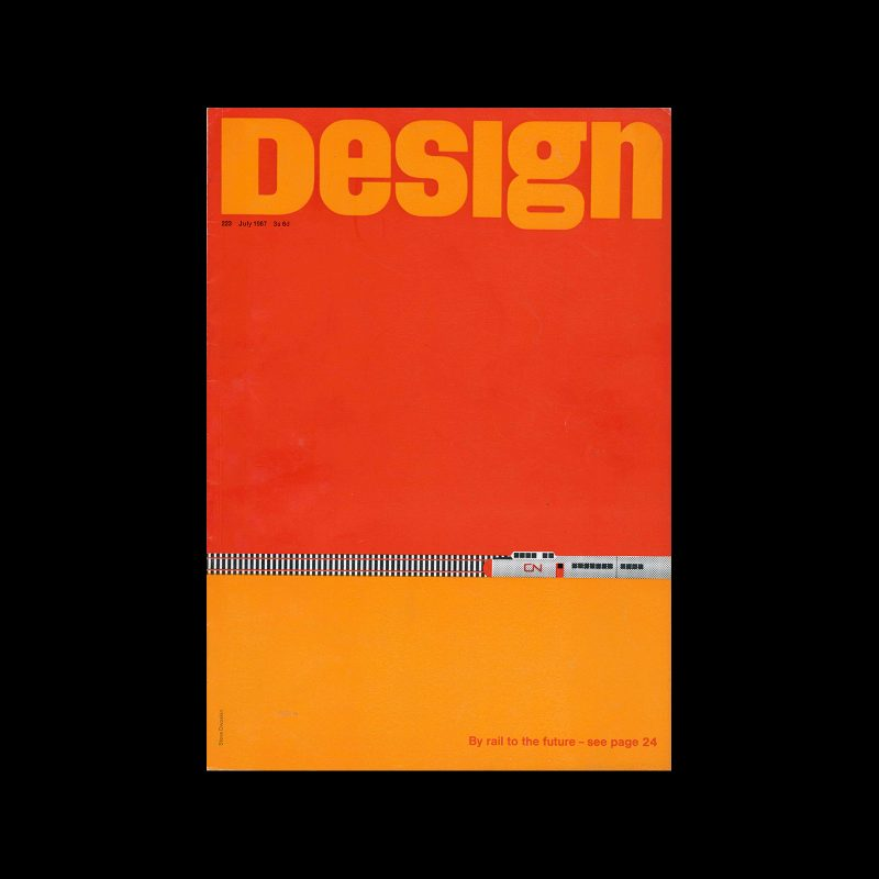 Design, Council of Industrial Design, 223, July 1967. Cover design by Steve Dwoskin