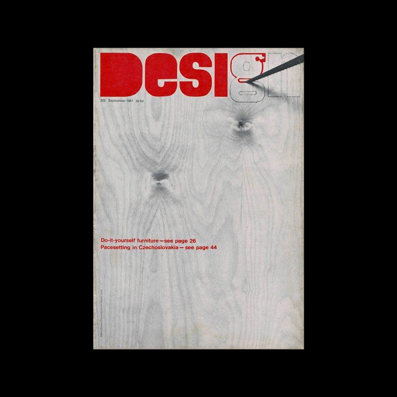 Design, Council of Industrial Design, 225, September 1967. Cover designer Baker/Broom/Edwards