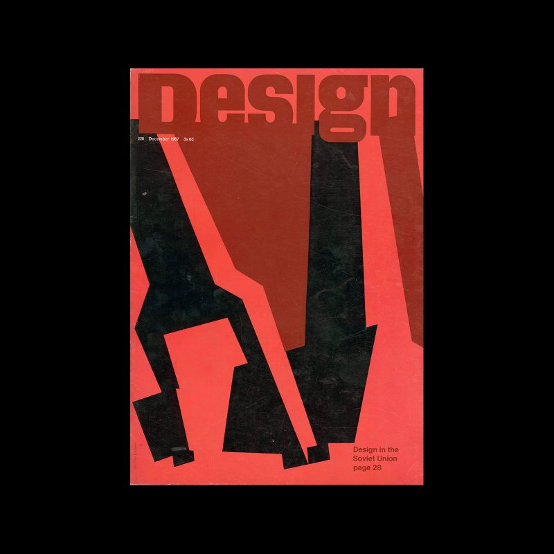 Design, Council of Industrial Design, 228, December 1967. Cover design by Stephen Dwoskin