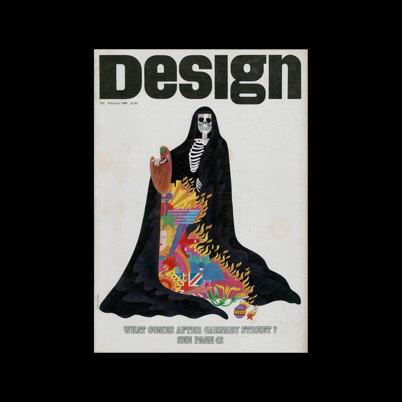 Design, Council of Industrial Design, 230, February 1968. Designed by Alan Aldridge