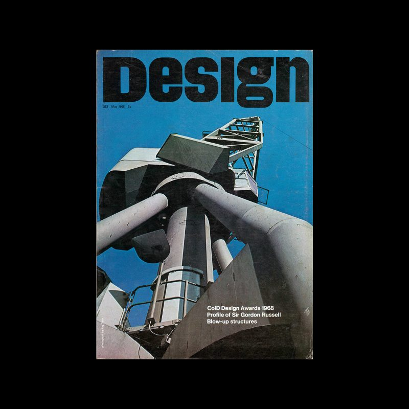 Design, Council of Industrial Design, 233, May 1968. Cover photo by Ray Dean