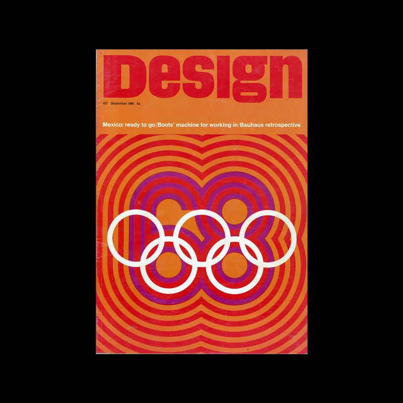 Design, Council of Industrial Design, 237, September 1968. Cover design by Lance Wyman
