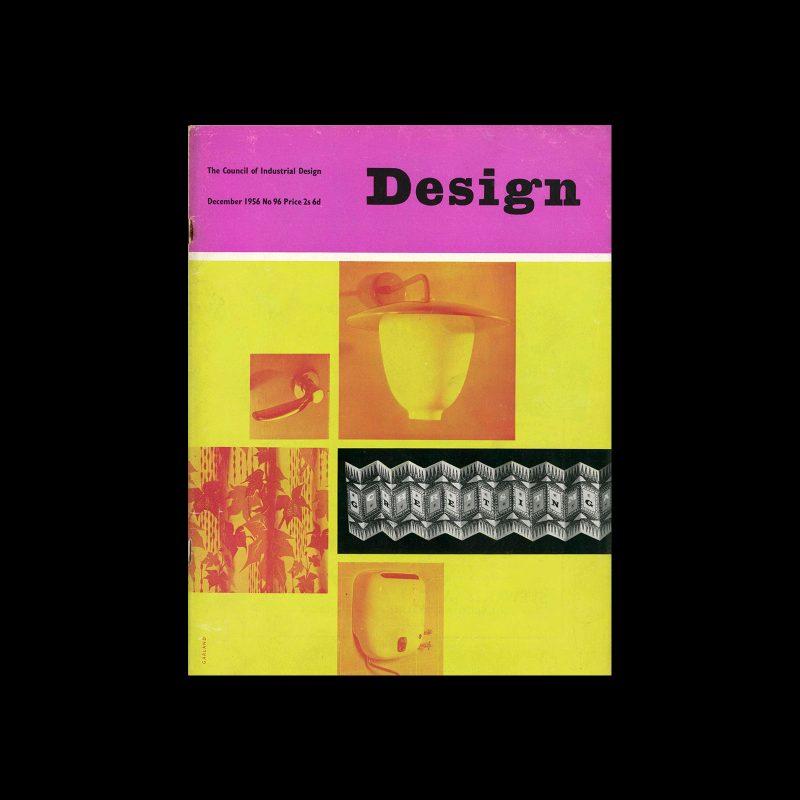 Design, Council of Industrial Design, 96, December 1956. Cover design by Ken Garland