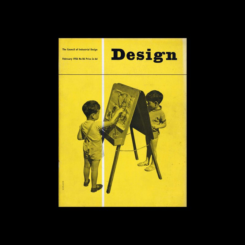 Design, Council of Industrial Design, 92, February 1956. Cover design by Ken Garland