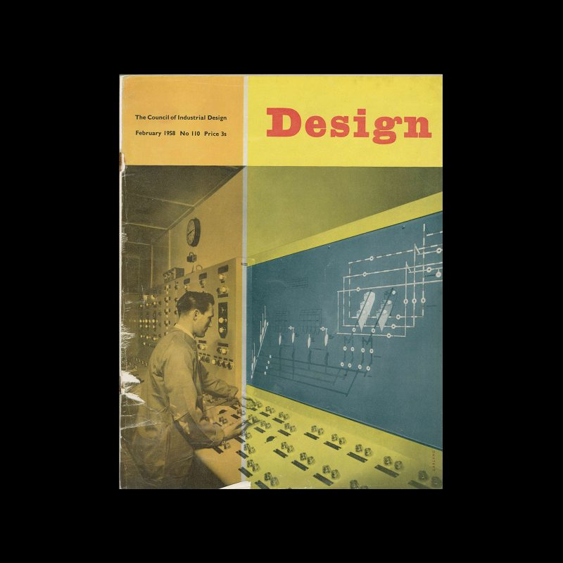 Design, Council of Industrial Design, 110, February 1958. Cover design by Ken Garland