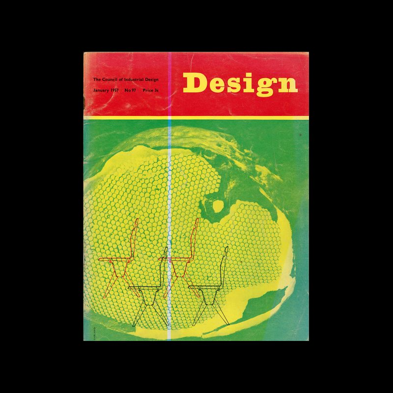 Design, Council of Industrial Design, 97, January 1957. Cover design by Ken Garland