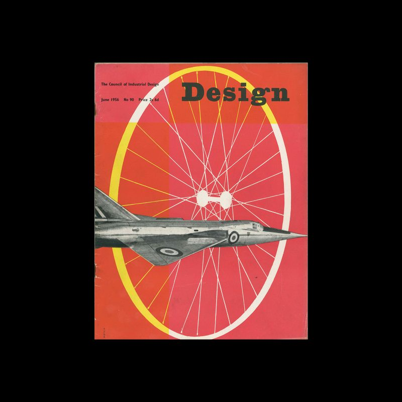 Design, Council of Industrial Design, 90, June 1956. Cover design by Peter Hatch