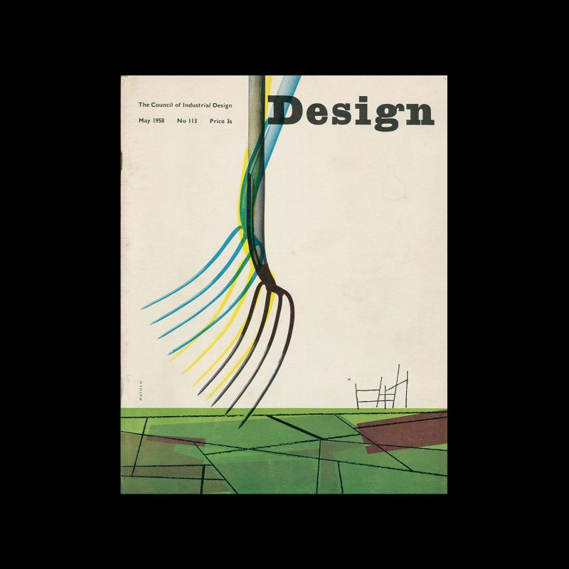 Design, Council of Industrial Design, 113, May 1958. Cover design by George Mayhew