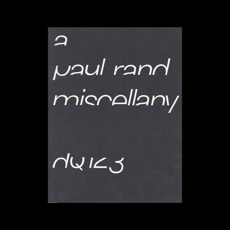 Design Quarterly 123, Paul Rand, 1984