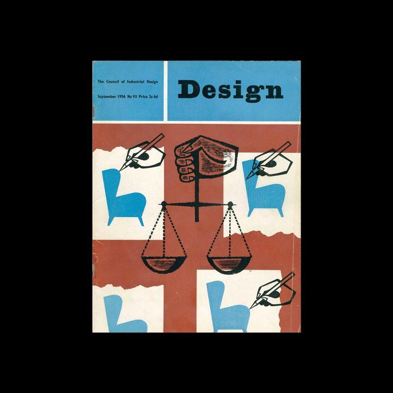 Design, Council of Industrial Design, 93, September 1956. Cover design by Cecil Keeling