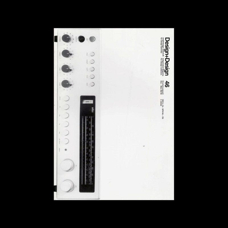 Design+Design, 46, 1998. Designed by Jo Klatt.