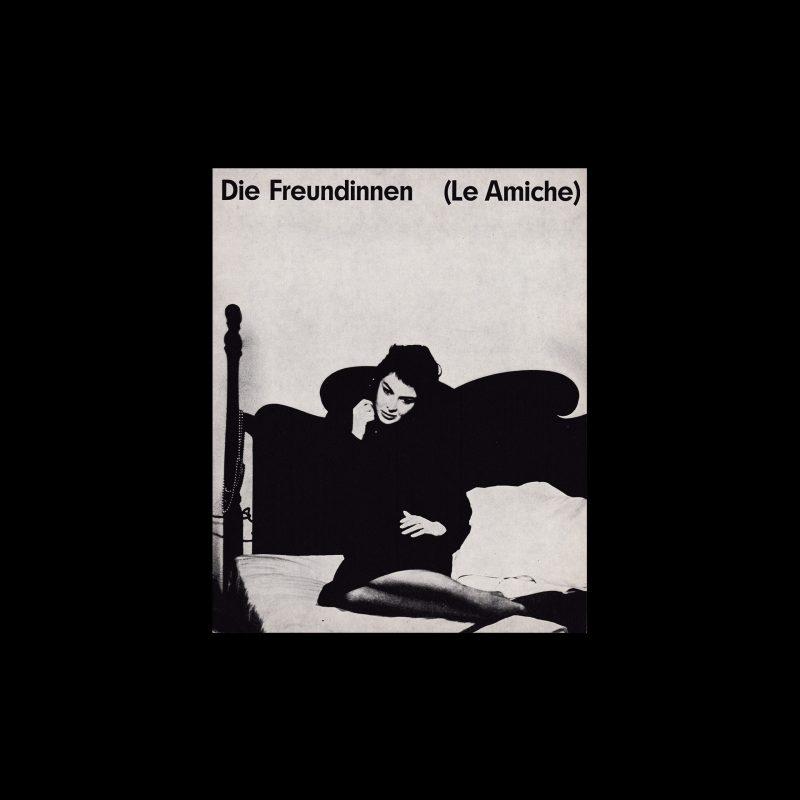 Die Freundinnen (Le Amiche). Die Kleine Filmkunstreihe 20 designed by Hans Hillmann