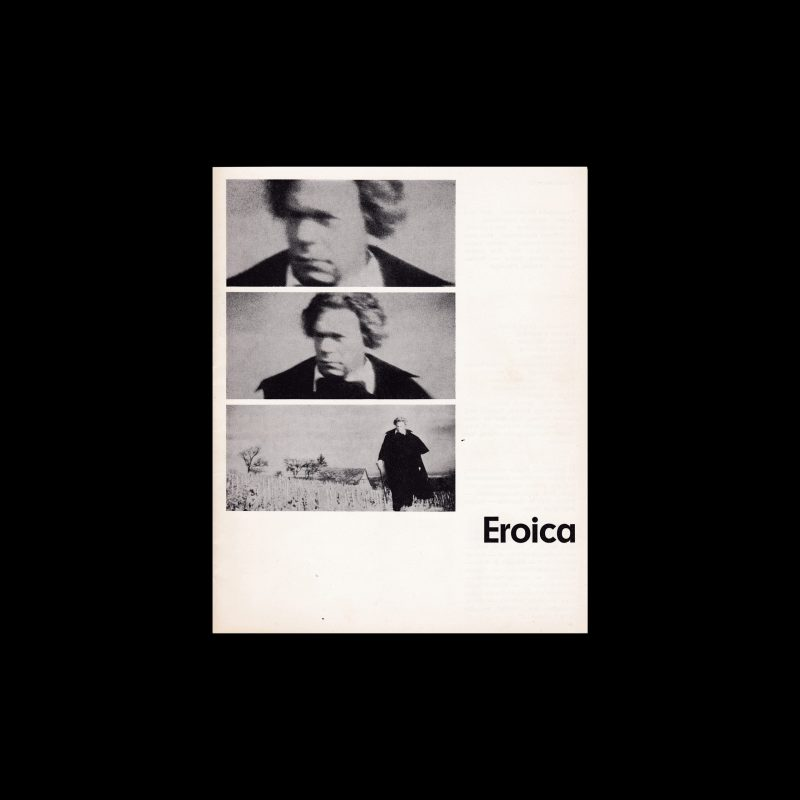 Eroica. Die Kleine Filmkunstreihe 25 designed by Isolde Baumgart
