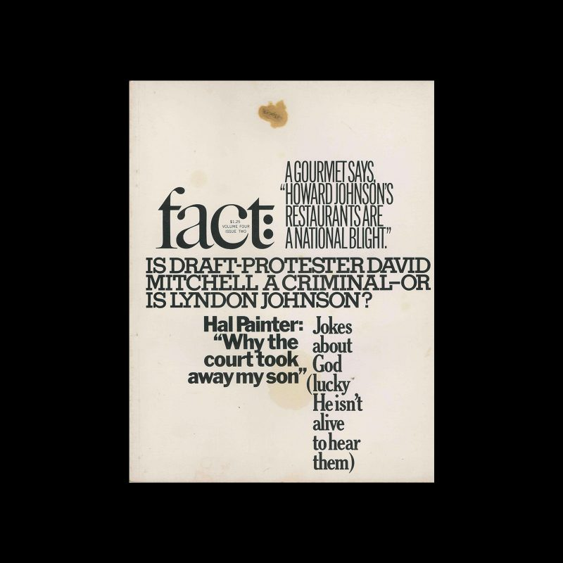 Fact, Volume Four, Issue Two, 1967. Designed by Herb Lubalin