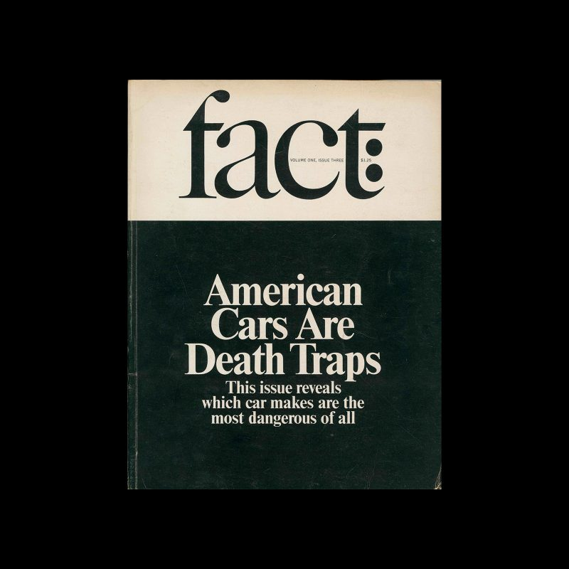 Fact, Volume One, Issue Three, 1964. Designed by Herb Lubalin.