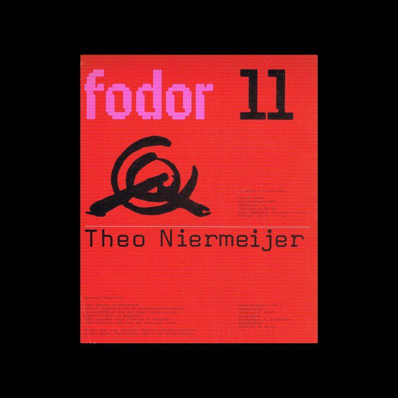 Fodor 11, 1973 - Theo Niermeijer. Designed by Wim Crouwel