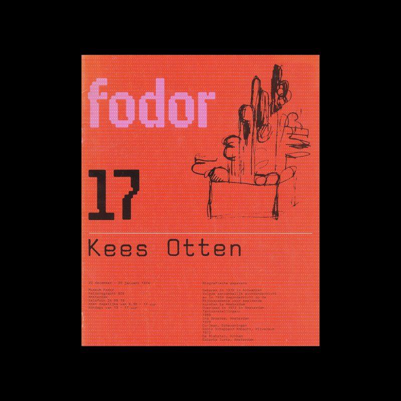 Fodor 17, 1974 - Kees Otten. Designed by Wim Crouwel and Daphne Duijvelshoff (Total Design)