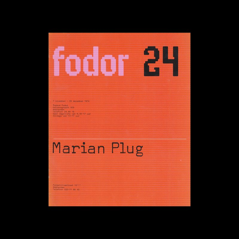 Fodor 24, 1974 - Marian Plug. Designed by Wim Crouwel and Daphne Duijvelshoff (Total Design)