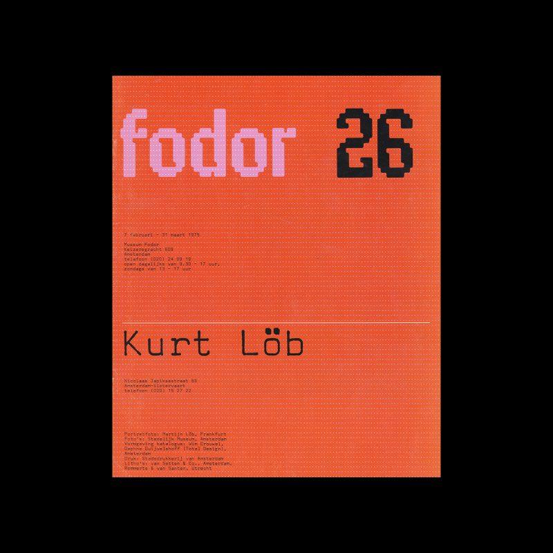 Fodor 26, 1975 - Kurt Löb. Designed by Wim Crouwel and Daphne Duijvelshoff (Total Design)