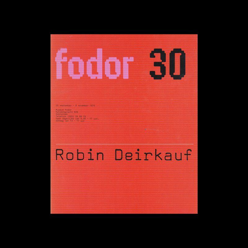 Fodor 30, 1975 - Robin Deirkauf. Designed by Wim Crouwel and Daphne Duijvelshoff (Total Design)