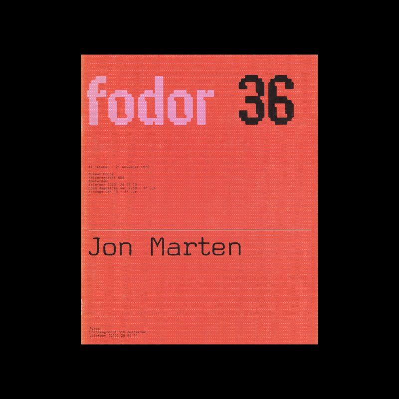 Fodor 36, 1976 - Jon Marten. Designed by Wim Crouwel and Daphne Duijvelshoff (Total Design)