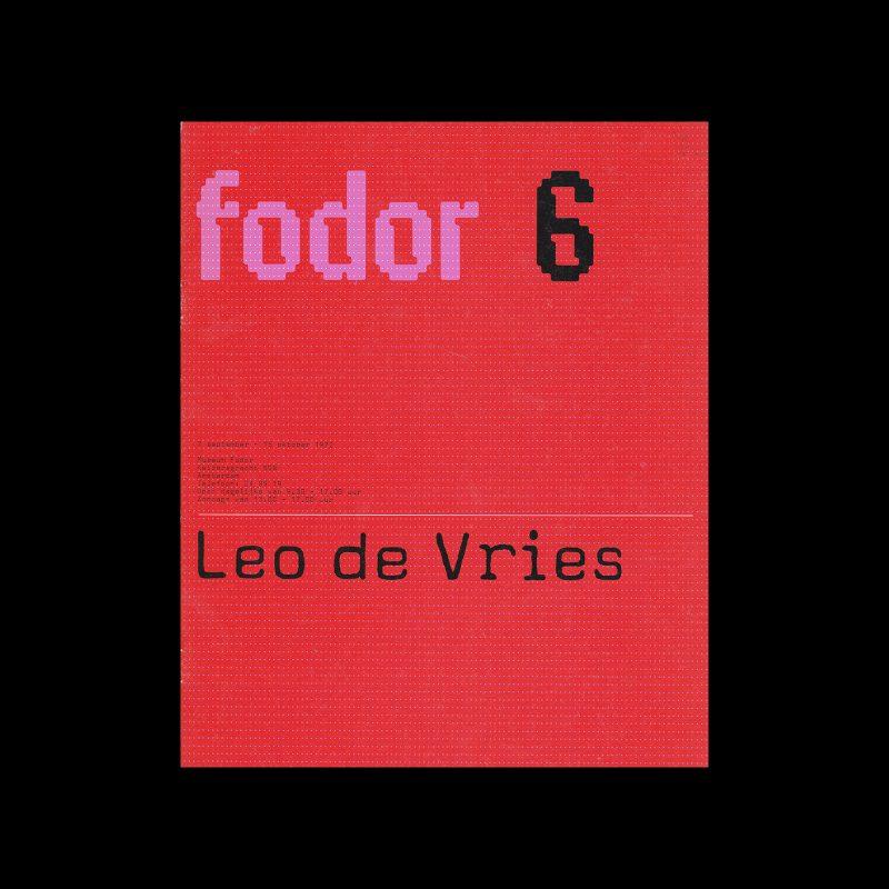 Fodor 6, 1972 - Leo de Vries. Designed by Wim Crouwel and Jos van der Zwaan (Total Design)