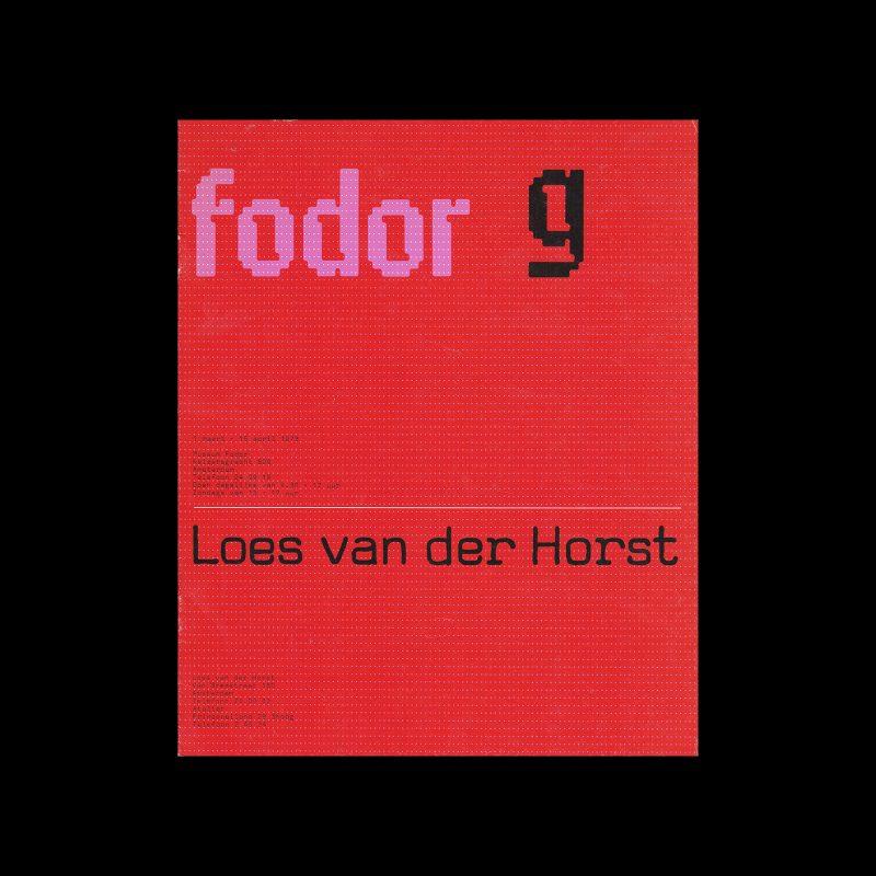 Fodor 9, 1973 - Loes van der Horst. Designed by Wim Crouwel and Anne Stienstra (Total Design)
