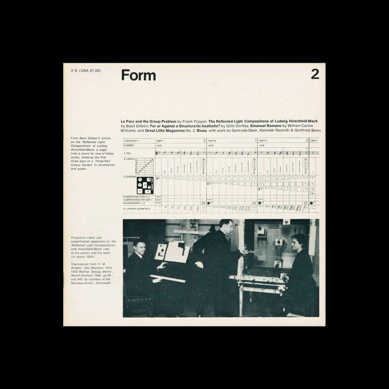Form, No.2, September 1966