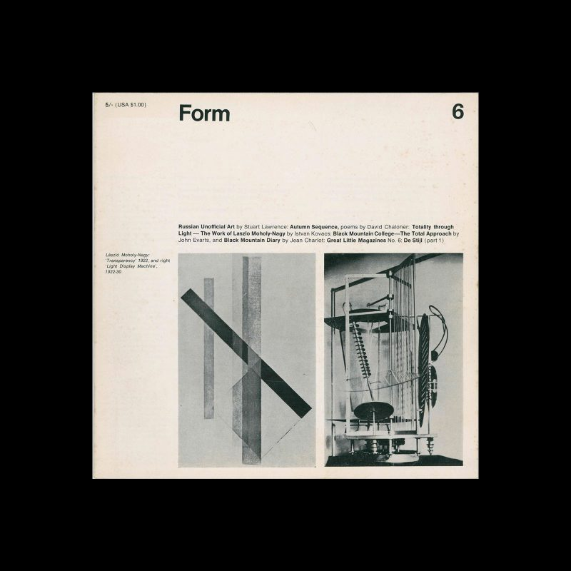 Form, No.6, December 1967