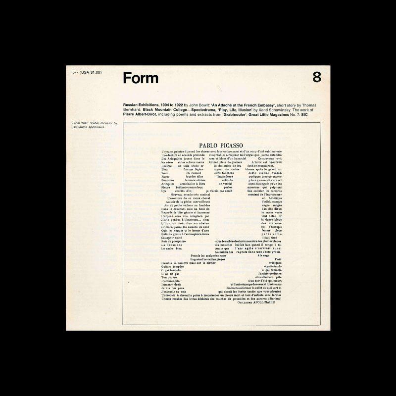 Form, No.8, September 1968