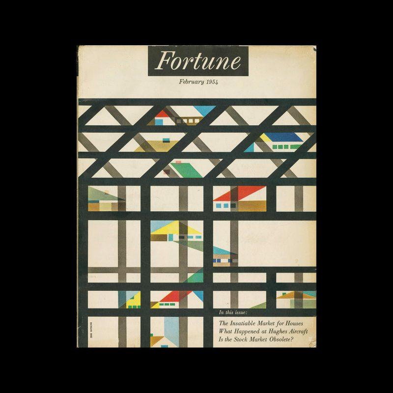Fortune magazine, Vol. 49, No. 2, 1954. Cover design by Erik Nitsche