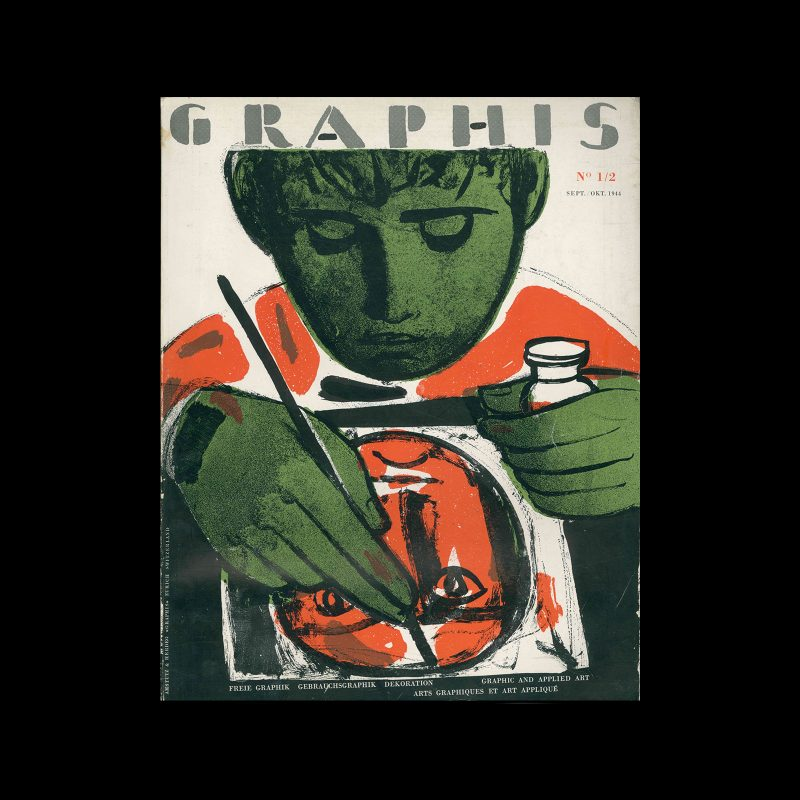 Graphis 01-02, 1944. Cover design by Max Hunziker