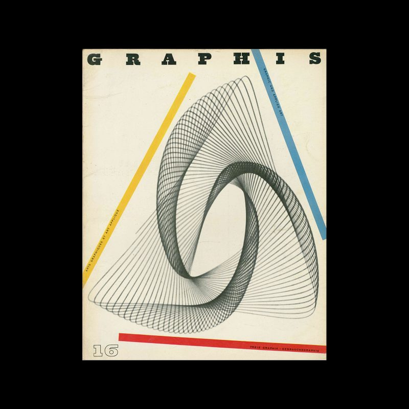 Graphis 16, 1946. Cover design by Walter Herdeg
