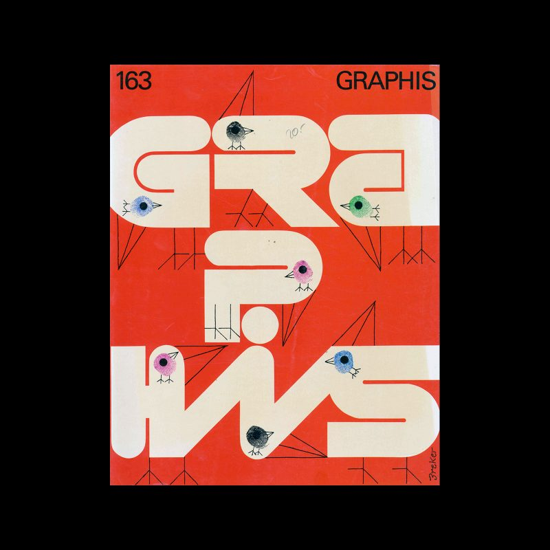 Graphis 163, 1972. Cover design by Walter Breker.